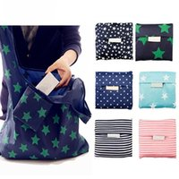 Fashion Creative Foldable Shopping Bags Reusable Grocery Storage Bag Eco Friendly Shopping Tote Bags 6 Colors