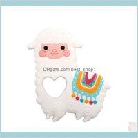 알파카 실리콘 Teether BPA 씹을 수있는 아기 고양이 젖니가있는 장난감 유아 태어난 간호 선물 장난감 양 아이들 Matern mxv16