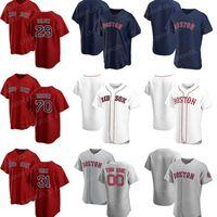 BostonKırmızıSox2021 Erkek Kadın Çocuklar 50 Mookie Betts Beyzbol Formaları Andrew Benintendi Ted Williams Brandon Workman Nathan Eovaldi