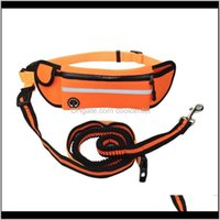Collars Leashes Supplies Home & Garden Drop Delivery 2021 Pet Rope Medium Large Dog Sport Pockets Reflective Waterproof Running Multifunction
