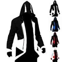 Felpa con cappuccio da uomo per Assassins Creed Cosplay Giacca Cosplay Cappotto Costume Cloak Medieval Oversize XXS - 6XL 2021 Felpe con cappuccio