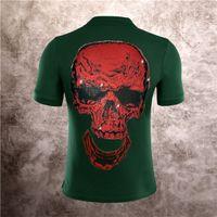 2020 유럽과 미국 순수한 컬러 티셔츠 남성 패션 폴로 짧은 느슨한 트렌드 코튼 하프 슬리브 다기능 상단