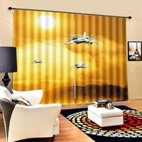 Finestra 3D di lusso per soggiorno Bedroom Gold Blackout Tende