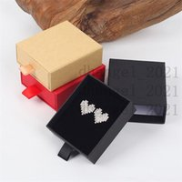 Luxury Elegant 8*7*3cm Drawer Box With Spong For Jewelery Display Earring Necklace Packaging Drawer Box With Ribbon LX1622