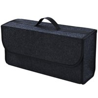 Car Organizer Trunk Portable Collapsible Soft Felt Storage Box Cargo Container Bag Stowing Tidying Holder Multi-pocket