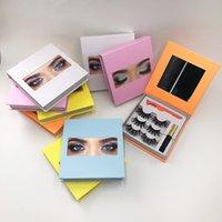 Wholesale 25mm mink lashes dramatic strip eyelashes eye magnetic set boxes lash glue eyelash tweezer custom private label packaging 1pcs case