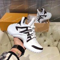 Hombres para mujer Retro Arco Zapatillas de deporte transpirables Zapatos Hermosa Plataforma Casual Cuero Papá Sneaker Vestido Botas de tenis Chaussures