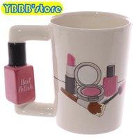 Tassen kreative keramik mädchen werkzeuge schönheit kit specials nagellack griff tee kaffee tasse becher personalisiert für frauen geschenk