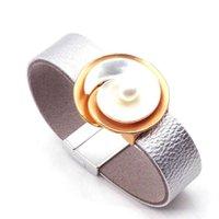 Fashion Multilayer Leather Bracelet Women Femme Cool Clasp Wristband Wrap Bracelets Metal Pulseira Jewelry Dropship New