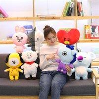 Brinquedos de pelúcia de alta qualidade Multi-estilo desenho animado estrela imagem BT21 Creative Dolls Presente de férias