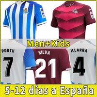Gerçek Sociedad 2021 2022 Futbol Forması Copa Del Rey Üçüncü Oyarzabal X Prieto Portu 3rd David Silva Odegaard Juanmi 21 22 Camiseta De Futbol Futbol Gömlek Çocuklar Set