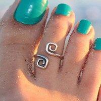 Beach Fashion Show Bonne chance Bague à pied ouvert à 8 mots Bohemian pied bijoux fille