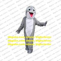 Golfinho Gray Golfinho Porpoise Hog Delphinids Baleia Cetacean Mascot Traje Personagem De Banda Desenhada Viva-Vestida Cerimônia de Casamento ZX501