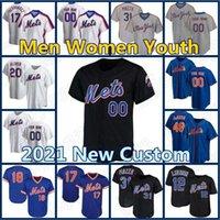 Personalizado 12 Francisco Lindor Mets Jersey 20 Pete Alonso 48 Jacob Degrrom Retro Baseball Darryl Morango Mike Piazza Conforto Gooden Hernandez