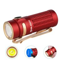 Olight Baton3 1200 lumens rechargeable, portable, red ultra-thin flashlight, compatible with MCC1A   MCC3 smart electromagnetic cable chargi