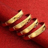 Bangle Gold For Women Dubai Bride Wedding Ethiopian Bracelet Africa Arabic Jewelry Charm Bracele