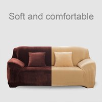 Chair Covers Elastic Solid Color Slipcovers Stretch Sofa Cover For Living Room Sectional Couch L Shape Armchair