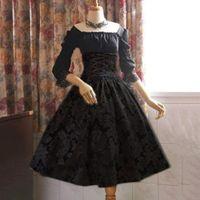 Mittelalterliche Vintage Lolita-Stil Gothic Kleid Frauen Plus Size Ballkleid Lace Up Verband Midi Kleider Big Swing Retro Robe Schwarz Lässig