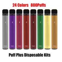 일회용 Ecigarettes vapes 키트 전자 담배 퍼프 바 플러스 장치 vape 550mAh 배터리 바 800 퍼프 3.2ml 포드 펜 xxl