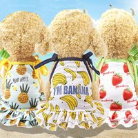 Dog Apparel 1pcs Fruit Printed Dress Couple Pet Clothes For Dogs Skirt Summer Puppy Cat Skirts Clothing Ropa Para Perro