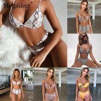 Snake Imprimir Bikini Set Push Up Bikinis Biquini High Cintura Swimsuit Mulheres Banho Sexy Plus Size Size Swimwear Maillot de Bainfree Shipping B