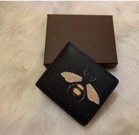 Diseñador Hombres Tarjeta Tarjeta Tarjeta Titulares de lujo Buena Calidad Cuero Pliegue Monederos Sir Bag Separe Wallets