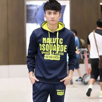 Youth with or without Hoodie, sweater set, men's spring and autumn Designer New Plush clothes, students' leisure, sports entertainment, two long sleeved running, anti
