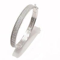 18k oro moda classico fortunato 4 / quattro foglia trifoglio cristalli collegamenti braccialetto a catena per S925 argento van womengirls matrimonio regalo di gioielli di San Valentino