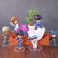 Детектив Conan Edogawa Konan / Haibara AI / Hattori Heiji / Kaitou Kiddo Akai Shuuichi Furuya Rei Desktop Figures 6шт / набор