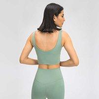 Yoga Outfits Женский поперечный передний скользкий Спортивный бюстгальтер BRA V-Back Modeded средняя поддержка йоги фитнес-бюстгальтеры бегущие тренировки эстетики