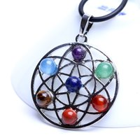 Natural Crystal 7 Colorful Stone Fashion Charm for DIY Necklace Pendant Seven Star Group Jewelry