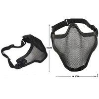 Boutique Tactical Caccia Caccia mentale Mezza maschera per bicicletta all'aperto Guida all'aperto Campo esterno CS Mesh Airsoft Mask Paintball resistente NHE7250