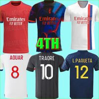 21 22 Digital 4th Maillot Lyon 2021 2022 Olympique Lyonnais Soccer Jersey OL maglie da calcio TRAORE MEMPHIS uomo bambini kit BRUNO G Uniformi
