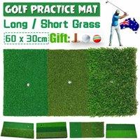 60x30cm Golf Mat Swing Stick Practice Hitting Nylon Long Grass Rubber Ball Tee Indoor Outdoor Training Aids Accessory Home Green Floor Mats