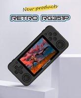 تحكم ألعاب المقود RG351P وحدة التحكم الرجعية 3.5 بوصة شاشة IPS 64 بت نظام المصدر المفتوح المحمولة المحمولة أجهزة التحكم الفيديو 2500+ ألعاب
