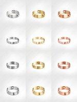 Amour Vis Anneau Designer Anneaux Classic luxe Designer de luxe Bijoux Femmes Gold Anneaux En acier Titane Gold-Plaqué Navigé non disparu non allergique -4 / 5 / 6mm