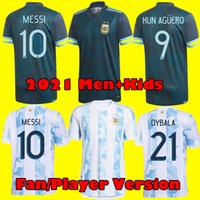 Fan Player versión 2021 Argentina Diego Maradona Messi Soccer Jersey 1986 Men Kids Dybala Agüero Football Kit