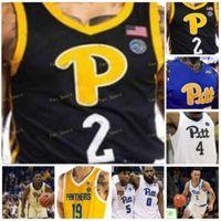 NCAA College Pitt Panthers Basketball Jersey 0 Eric Hamilton 1 Xavier Johnson 2 Trey McGowens 4 Gerald Drumgoole JR 사용자 정의 스티치