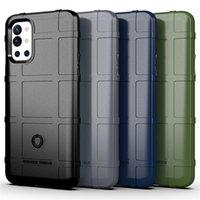 Militaire Protéger des boîtes de téléphone cellulaire de silicone de bouclier robustes pour OnePlus 9R 9 PRO 7T 8Pro One Plus 7 8 Nord N10 5G Armure d'Armure antichoc