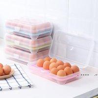 15 Gitter Kunststoff Eierkästen Kühlschrank Food Fresh Aufbewahrungsbox Shatter Eiern Resistent Organizer Container Küchenwerkzeuge LLB10095