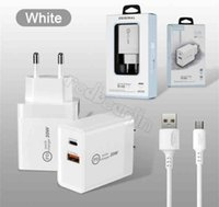 2 in 1 PD type c QC3.0 Fast Quick Charger US Wall Chargers with cable and retail box