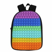 12inch 16inch Rainbow Children's Push Poppers Bubbles Fidget Backpack Toys Back To School Tie Dye Student Poo-its Shoulders Bag High Capacity Bags H916KKUE