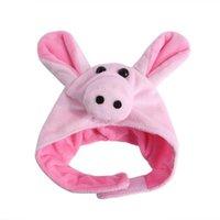 Lindo Pequeño mascota fresco Vestido de halloween encima de accesorios de casquillo de cerdo Perro Perro interesante Ropa Cosplay Cat Disfraces