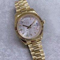U1 41mm Hombres Reloj Moda Movimiento automático de alta calidad Cristal Grey Dial 18k Amarillo Gold Banda