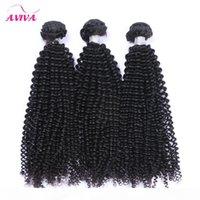 Brasil Brasileira Cabelo Virgem Weave Pacotes Não Transformados Brasileiro Afro Kinky Curly Remy Human Human Extensions 3 pcs Lot Natural Black Macio Full