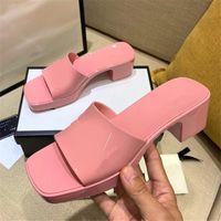 Desinger الحلوى اللون جيلي pvc منصة النساء أحذية الصيف مربع مفتوحة تو كعوب البغال في الهواء الطلق شاطئ اللباس النعال سميكة وحيد
