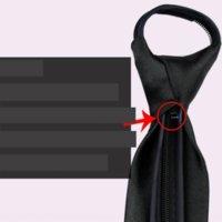 Ajz Fashion Men's Colore Collo Ties Versione Stretto Easy Bridegroom's Wedding Small Black Fashion Moda Uomo Versione coreana Zipper ZipperNarrow EA