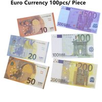 Prop Money 1:1 Fake Moneys Euro Bills Dollar Bill Party Supplies EUR USD Banking Play Toys for Spray Gun Movies Kids Teaching Halloween Christmas Gifts