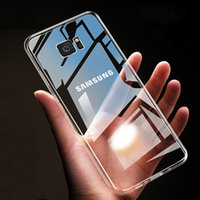 Şeffaf Kılıf Samsung Galaxy S7 Sınır S8 S9 S10 Lite Not 2 3 4 5 8 9 A6 A7 A8 A9 J4 J6 Artı J8 Temizle Yön TPU Kılıfları