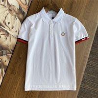 2021 Tasarımcılar T Gömlek Yaz Avrupa Paris Polos Amerikan Yıldız Moda Erkek Tişörtleri Yıldız Saten 100% Pamuk Polo Rahat T-Shirt Kadınlar Mans Tees Siyah Beyaz